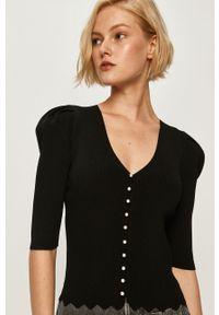 Czarna bluzka Miss Sixty na co dzień, casualowa