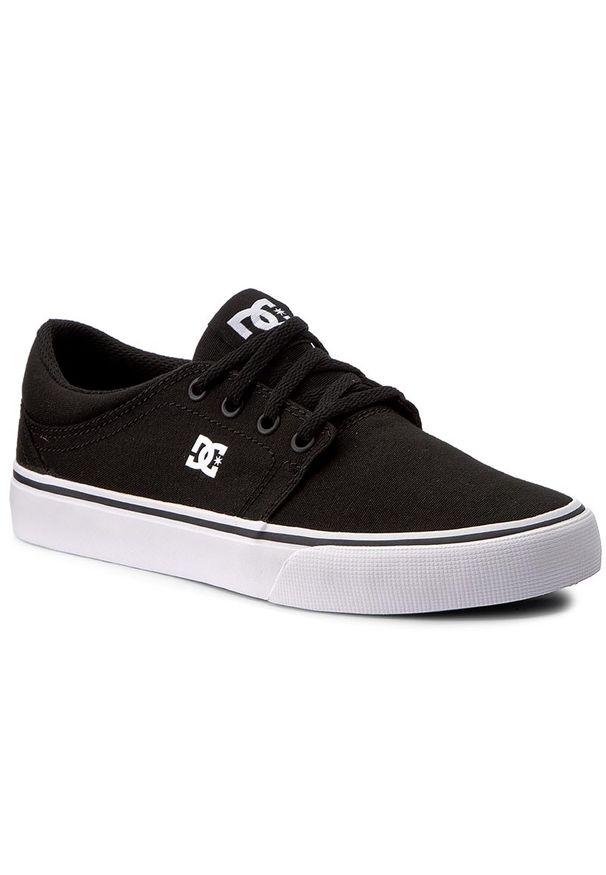 Tenisówki DC - Trase Tx ADYS300126 Black/White (BKW). Okazja: na co dzień. Kolor: czarny. Materiał: materiał. Szerokość cholewki: normalna. Styl: casual