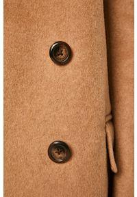 Beżowy płaszcz ANSWEAR bez kaptura, casualowy, na co dzień