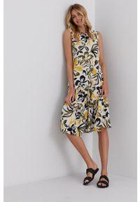 Answear Lab - Sukienka. Okazja: na co dzień. Kolor: żółty. Materiał: tkanina. Typ sukienki: proste. Styl: wakacyjny