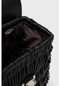 Czarna torba plażowa Nobo skórzana, mała, gładkie