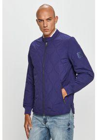 Pepe Jeans - Kurtka Drayton. Kolor: niebieski. Materiał: materiał. Wzór: gładki
