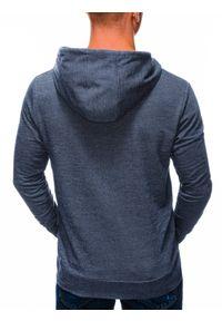 Ombre Clothing - Bluza męska z kapturem B1220 - granatowa - XL. Okazja: na co dzień. Typ kołnierza: kaptur. Kolor: niebieski. Materiał: bawełna, dzianina, poliester. Styl: sportowy, klasyczny, casual
