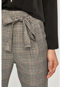 Szare spodnie materiałowe Answear Lab na co dzień, z podwyższonym stanem, wakacyjne
