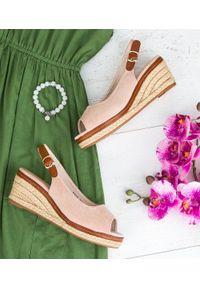 Beżowe sandały SIXTH SENS casualowe, na co dzień, ze sprzączką, w kolorowe wzory