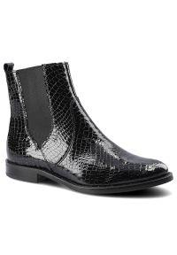 Dwunasty Shoes - Botki DWUNASTY SHOES 7420 Czarny Kroko 2. Kolor: czarny