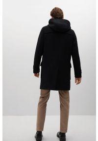Czarny płaszcz Mango Man z kapturem, casualowy, na co dzień #8