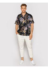 Jack & Jones - Jack&Jones Koszula Tropicana 12187956 Czarny Regular Fit. Kolor: czarny