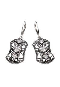 Polcarat Design - Kolczyki srebro cyrkonia K 1511. Materiał: srebrne. Wzór: aplikacja. Kamień szlachetny: cyrkonia #1