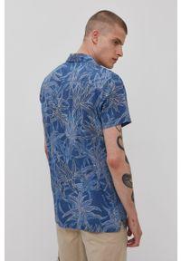 PRODUKT by Jack & Jones - Produkt by Jack & Jones - Koszula. Typ kołnierza: kołnierzyk klasyczny. Kolor: niebieski. Materiał: tkanina. Długość rękawa: krótki rękaw. Długość: krótkie. Styl: klasyczny