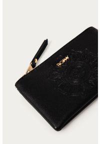 Czarny portfel Roxy gładki