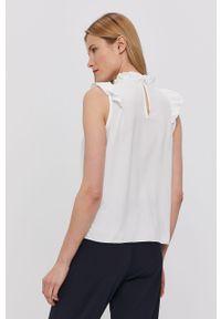 Biała bluzka Haily's bez rękawów, na co dzień, ze stójką, casualowa