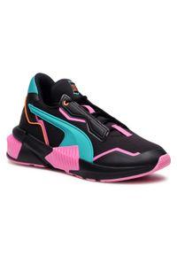 Czarne buty do fitnessu Puma z cholewką, na płaskiej podeszwie