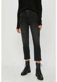 Czarne proste jeansy Lee