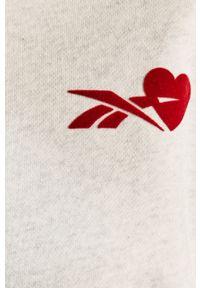 Szara bluza Reebok Classic z długim rękawem, na co dzień, długa