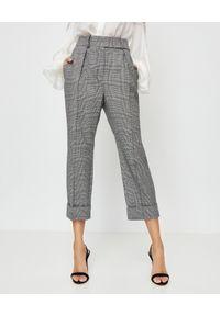 ALEXANDRE VAUTHIER - Szare spodnie w kratę. Okazja: na co dzień, do pracy. Kolor: szary. Materiał: materiał. Styl: elegancki, klasyczny, casual
