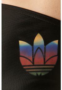 Czarny strój kąpielowy adidas Originals z aplikacjami