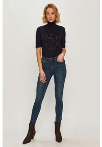 Niebieski sweter Trussardi Jeans na co dzień, krótki