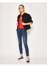 Lee Jeansy Skinny Fit Scarlett L526DUIY Granatowy Skinny Fit. Kolor: niebieski. Materiał: jeans