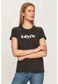 Czarna bluzka Levi's® na spotkanie biznesowe, biznesowa