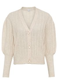 Beżowy sweter bonprix melanż