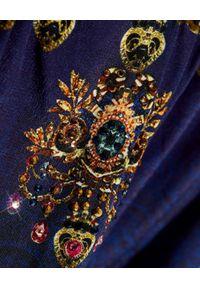 Camilla - CAMILLA - Sukienka mini z hiszpańskim dekoltem Fields of Treasure. Kolor: niebieski. Materiał: jedwab. Wzór: aplikacja. Typ sukienki: rozkloszowane. Długość: mini