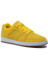 Żółte buty sportowe Es na co dzień, z cholewką