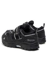 Kappa - Sneakersy KAPPA - Hovet Tex Low K 260845K Black/Silver 1115. Okazja: na spacer. Zapięcie: rzepy. Kolor: czarny. Materiał: skóra ekologiczna, materiał. Szerokość cholewki: normalna