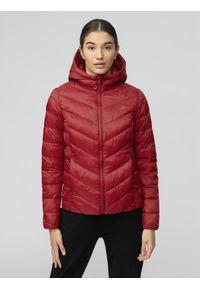 Czerwona kurtka zimowa 4f ze stójką