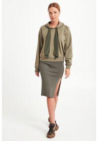 Bluza Sportmax Code z kapturem, w kolorowe wzory, elegancka