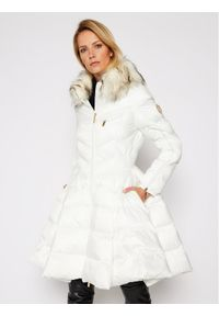 Biała kurtka puchowa Elisabetta Franchi