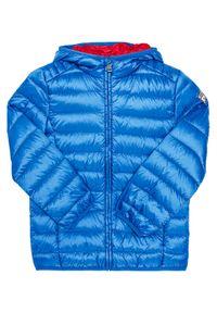 Guess Kurtka puchowa L71L77 W85J0 Niebieski Regular Fit. Kolor: niebieski. Materiał: puch