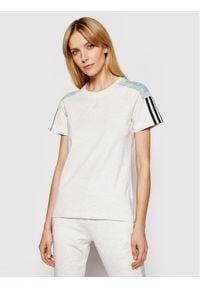 Adidas - adidas T-Shirt Cb Lin T GL1449 Szary Regular Fit. Kolor: szary