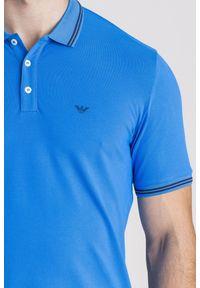 Koszulka polo Emporio Armani sportowa, polo, w jednolite wzory