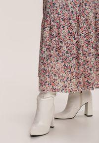 Renee - Granatowa Spódnica Cricketsparkle. Kolor: niebieski. Długość: długie. Wzór: kwiaty, gładki
