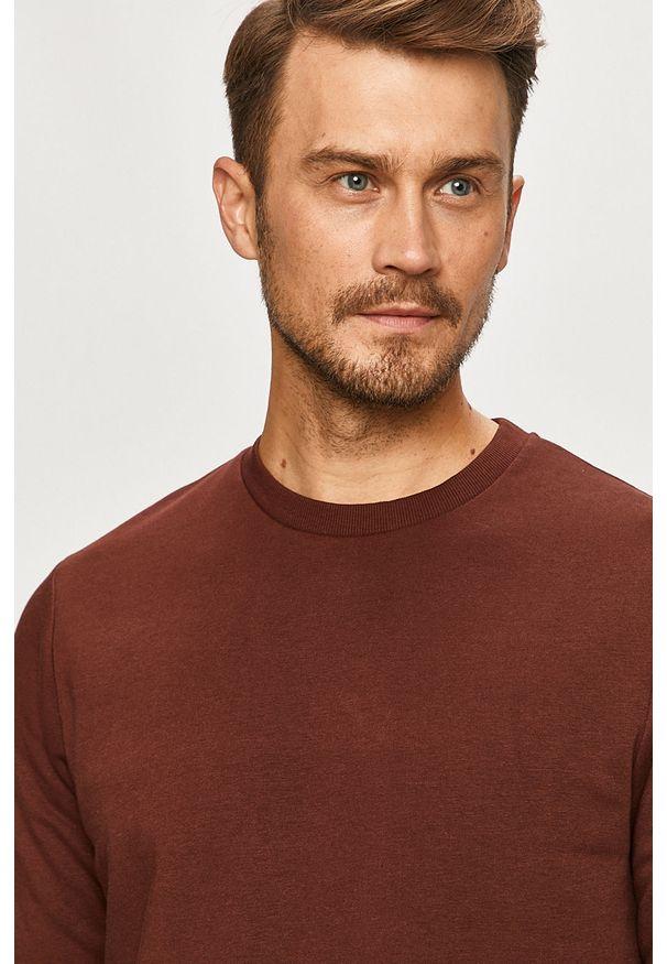 Brązowa bluza nierozpinana PRODUKT by Jack & Jones na co dzień, casualowa, bez kaptura