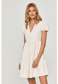 Biała sukienka TwinSet klasyczna, prosta