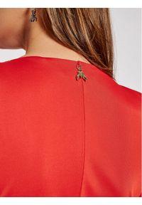 Patrizia Pepe Sukienka koktajlowa 8A0864/A9C2-R725 Czerwony Slim Fit. Kolor: czerwony. Styl: wizytowy