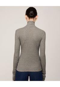 NANUSHKA - Szary sweter z golfem Harri. Okazja: do pracy. Typ kołnierza: golf. Kolor: szary. Materiał: bawełna. Długość rękawa: długi rękaw. Długość: długie. Styl: klasyczny