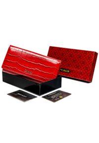 4U CAVALDI - Portfel damski czerwony Cavaldi PX27-CR-0673 RED. Kolor: czerwony. Materiał: skóra