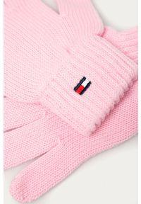 Różowe rękawiczki TOMMY HILFIGER