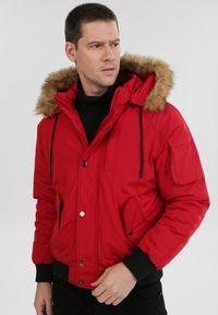 Czerwona kurtka zimowa Born2be