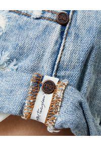 ONETEASPOON - Jeansowe spodenki Bandits Hendrix. Stan: obniżony. Kolor: niebieski. Materiał: jeans. Wzór: aplikacja #4