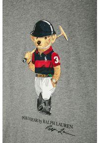 Szary t-shirt Polo Ralph Lauren z nadrukiem, polo