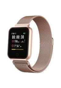 Złoty zegarek TFO smartwatch, elegancki