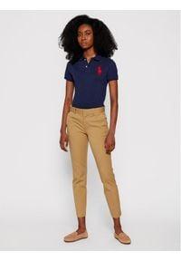 Polo Ralph Lauren Polo 211505656 Granatowy Skinny Fit. Typ kołnierza: polo. Kolor: niebieski