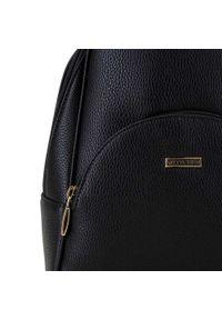 Wittchen - Damski plecak z półokrągłą kieszenią. Kolor: czarny. Materiał: skóra ekologiczna. Styl: klasyczny, elegancki, casual
