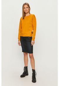 Żółta bluza G-Star RAW na co dzień, casualowa, długa