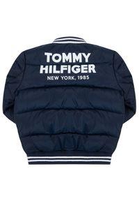 Niebieska kurtka puchowa TOMMY HILFIGER