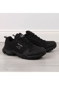 Buty męskie trekkingowe wodoodporne czarne American Club. Kolor: czarny. Materiał: materiał